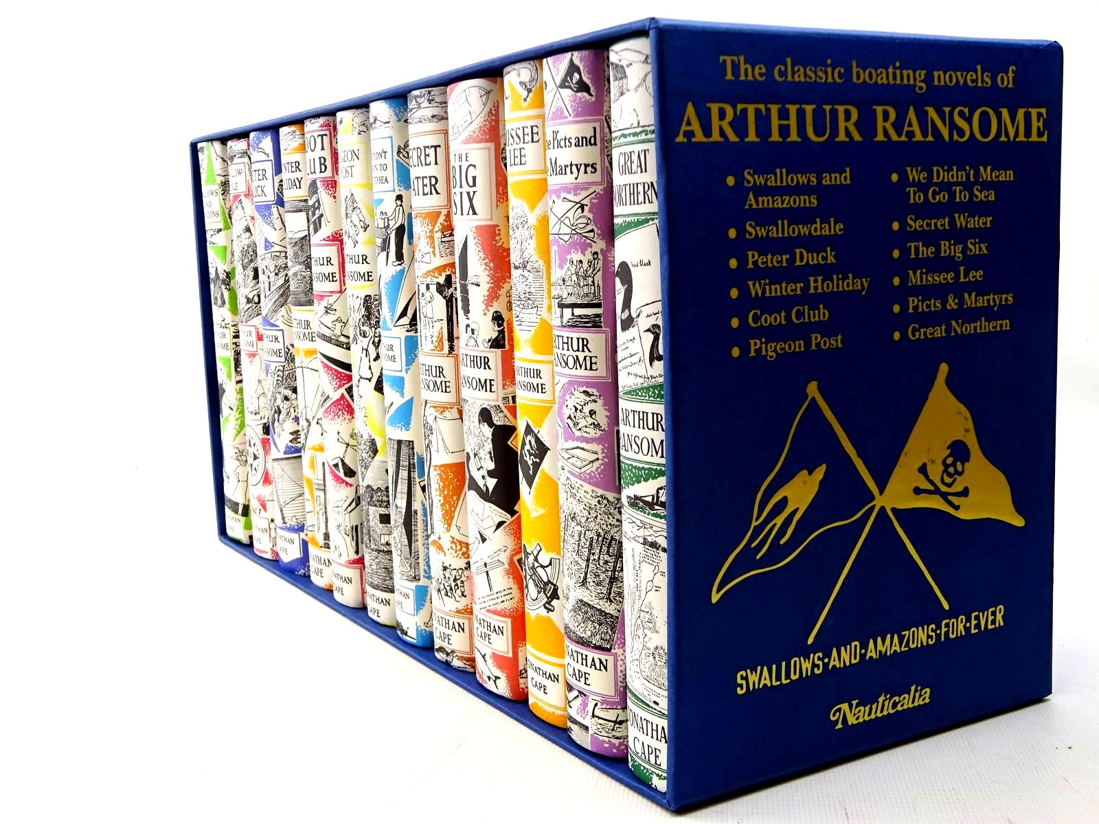 Photo of THE CLASSIC BOATING NOVELS OF ARTHUR RANSOME (12 VOLUMES) written by Ransome, Arthur illustrated by Ransome, Arthur<br />Blackett, Nancy published by Jonathan Cape (STOCK CODE: 2126550)  for sale by Stella & Rose's Books