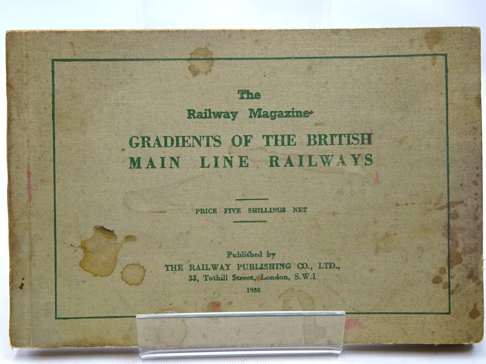 Photo of GRADIENTS OF THE BRITISH MAIN LINE RAILWAYS published by The Railway Publishing Co. Ltd. (STOCK CODE: 2126582)  for sale by Stella & Rose's Books