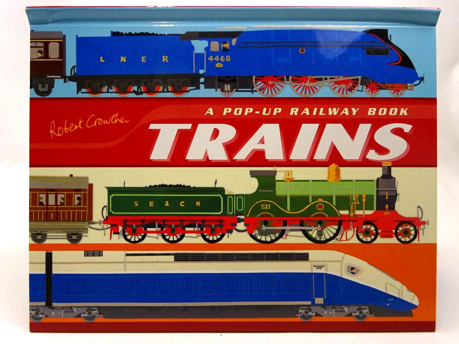 Photo of TRAINS A POP-UP RAILWAY BOOK written by Crowther, Robert illustrated by Crowther, Robert published by Walker Books (STOCK CODE: 2126598)  for sale by Stella & Rose's Books