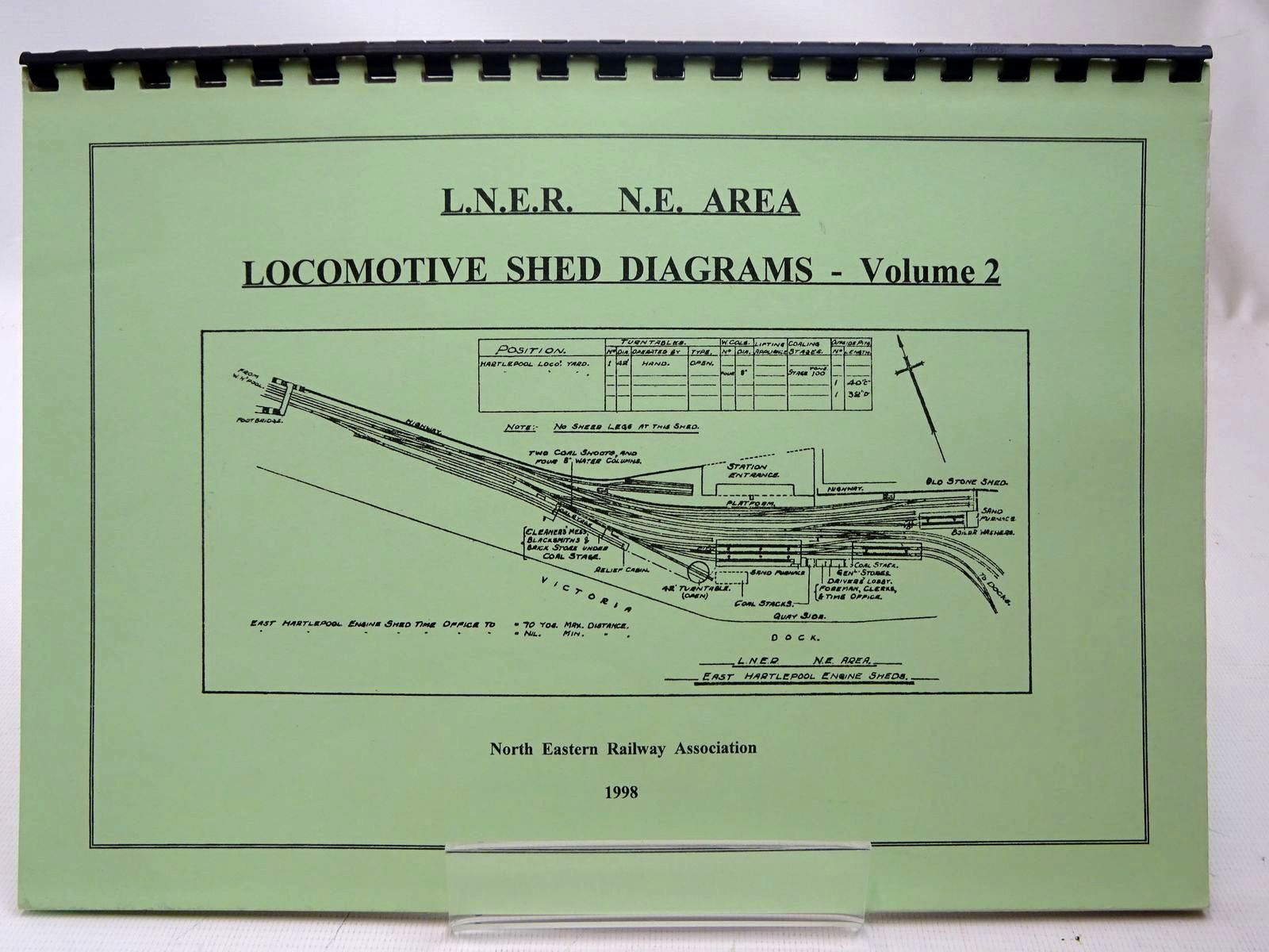 Photo of L.N.E.R.  N.E. AREA LOCOMOTIVE SHED DIAGRAMS - VOLUME 2 written by Williamson, David<br />Williamson, Claire published by The North Eastern Railway Association (STOCK CODE: 2126806)  for sale by Stella & Rose's Books
