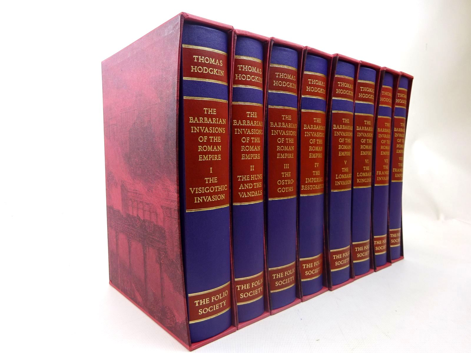 Photo of THE BARBARIAN INVASIONS OF THE ROMAN EMPIRE (8 VOLUMES) written by Hodgkin, Thomas<br />Heather, Peter published by Folio Society (STOCK CODE: 2127063)  for sale by Stella & Rose's Books