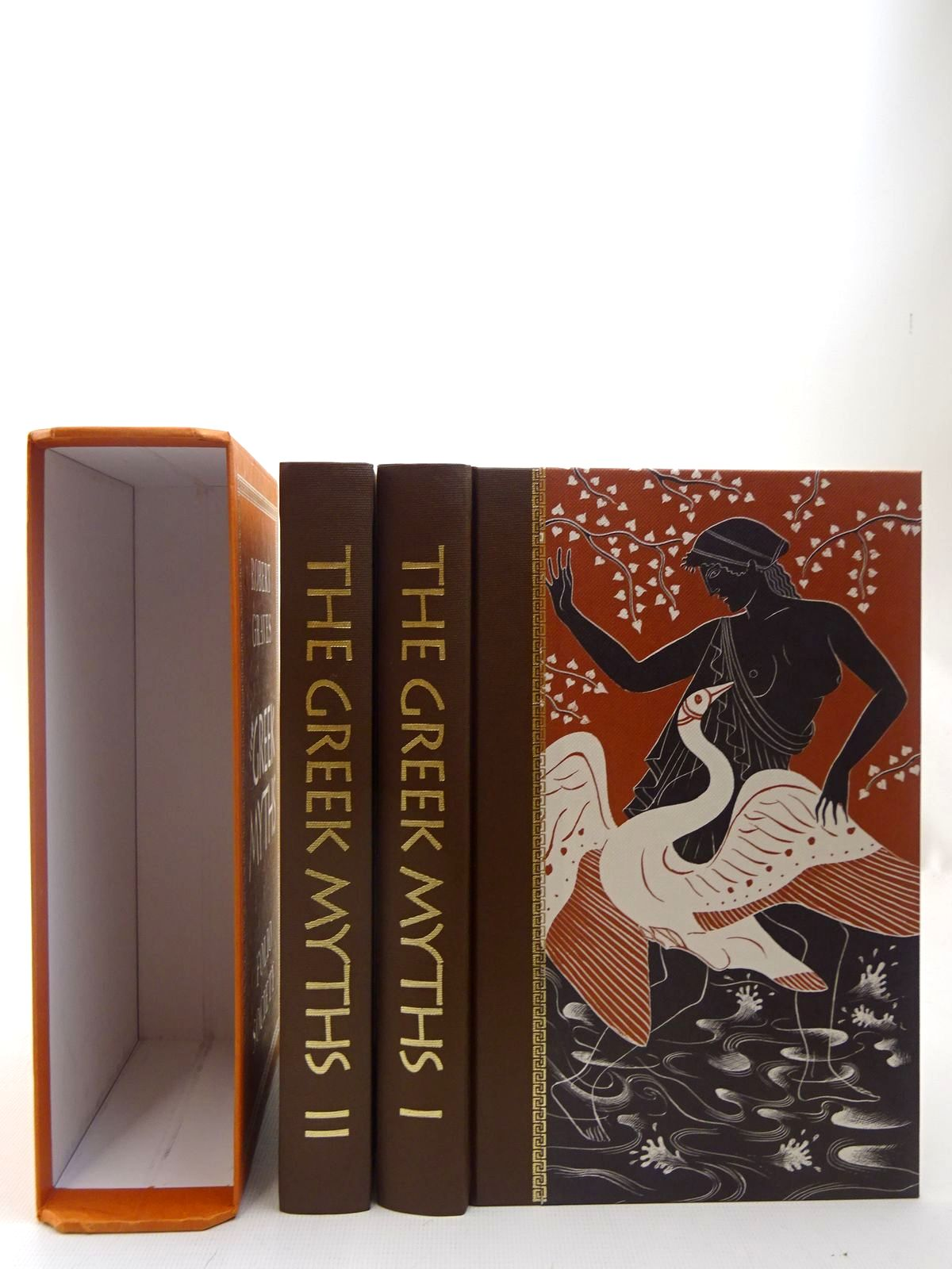 Photo of THE GREEK MYTHS (2 VOLUMES) written by Graves, Robert<br />Mcleish, Kenneth illustrated by Baker, Grahame published by Folio Society (STOCK CODE: 2127092)  for sale by Stella & Rose's Books