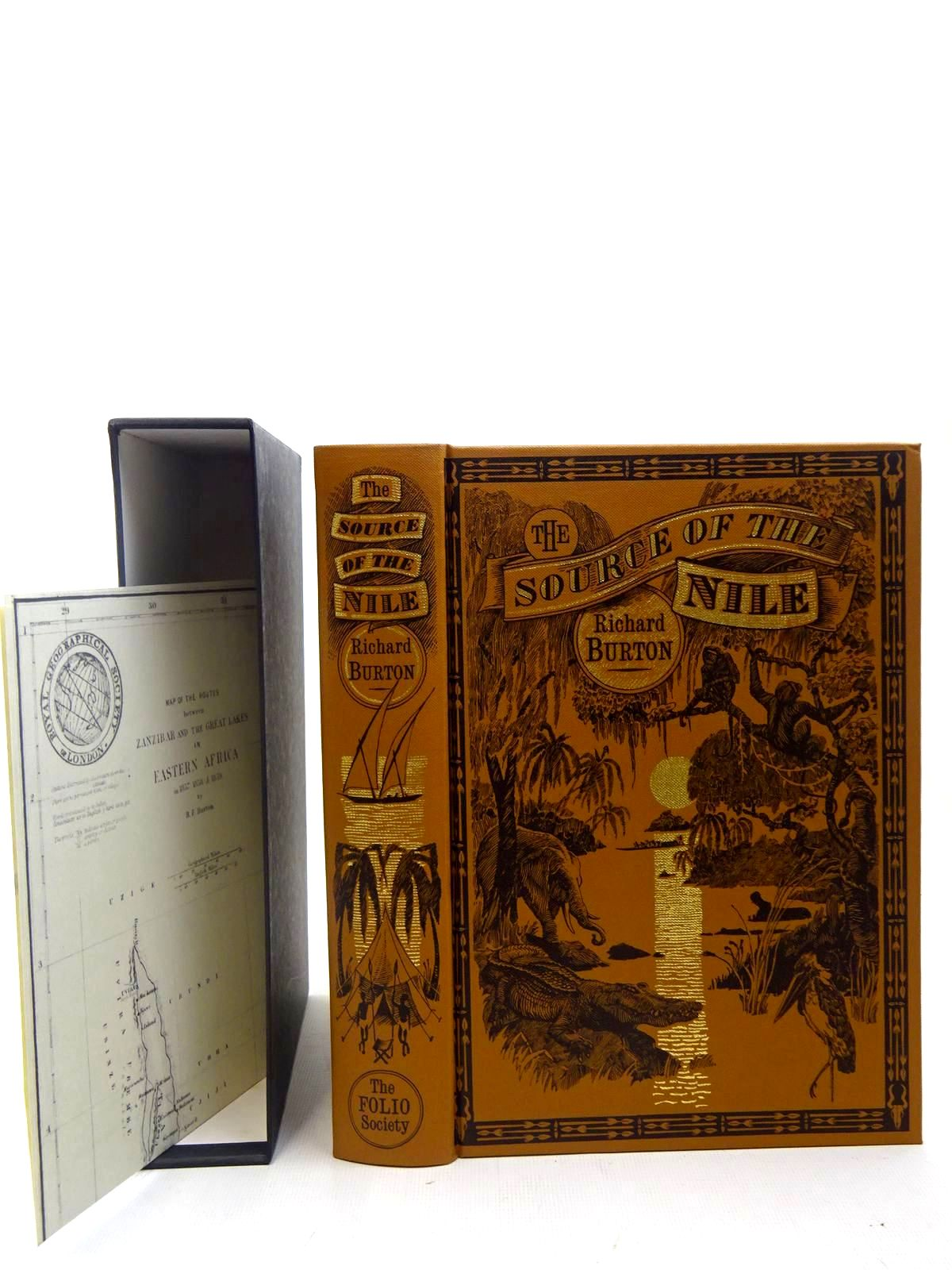 Photo of THE SOURCE OF THE NILE: THE LAKE REGIONS OF CENTRAL AFRICA written by Burton, Richard published by Folio Society (STOCK CODE: 2127152)  for sale by Stella & Rose's Books
