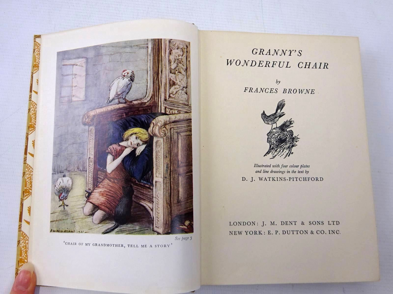 Photo of GRANNY'S WONDERFUL CHAIR written by Browne, Frances illustrated by BB,  published by J.M. Dent & Sons Ltd. (STOCK CODE: 2127229)  for sale by Stella & Rose's Books