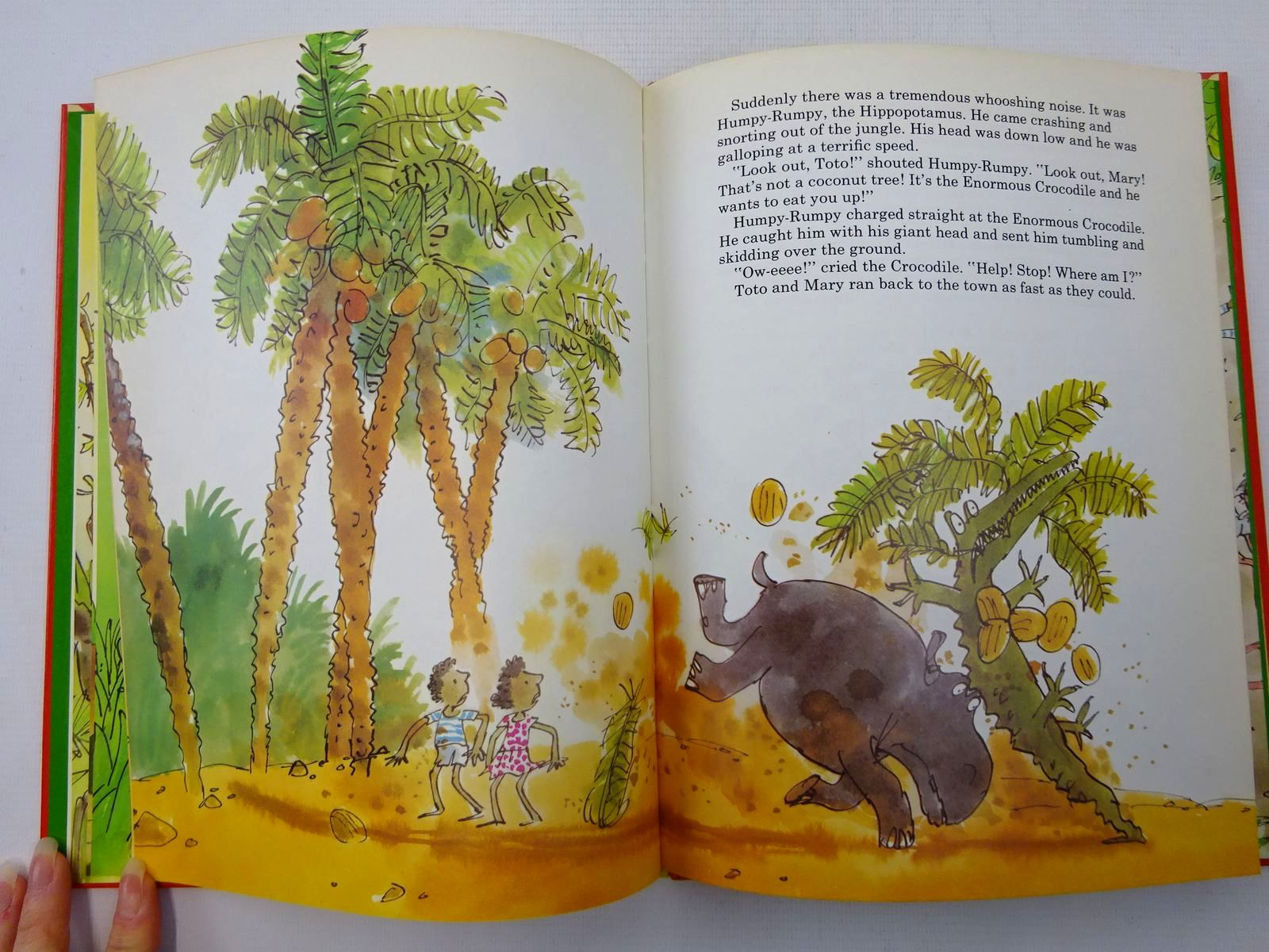 Photo of THE ENORMOUS CROCODILE written by Dahl, Roald illustrated by Blake, Quentin published by Jonathan Cape (STOCK CODE: 2127233)  for sale by Stella & Rose's Books