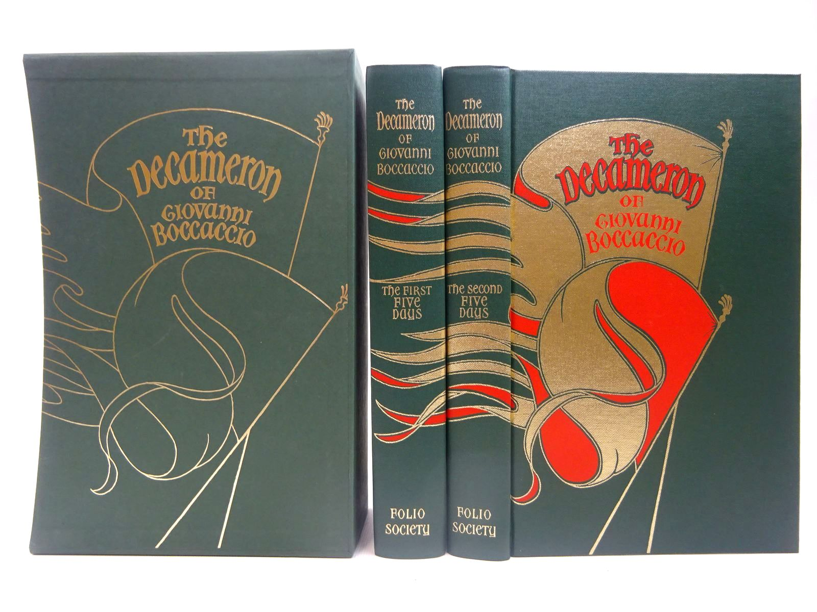 Photo of THE DECAMERON OF GIOVANNI BOCCACCIO (2 VOLUMES) written by Boccaccio, Giovanni<br />Aldington, Richard illustrated by Buckland-Wright, John published by Folio Society (STOCK CODE: 2127443)  for sale by Stella & Rose's Books