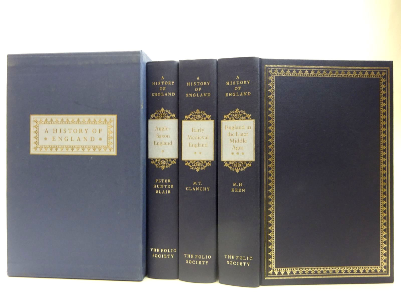 Photo of A HISTORY OF ENGLAND (3 VOLUMES) written by Blair, Peter Hunter<br />Clanchy, M.T.<br />Keen, M.H. published by Folio Society (STOCK CODE: 2127444)  for sale by Stella & Rose's Books