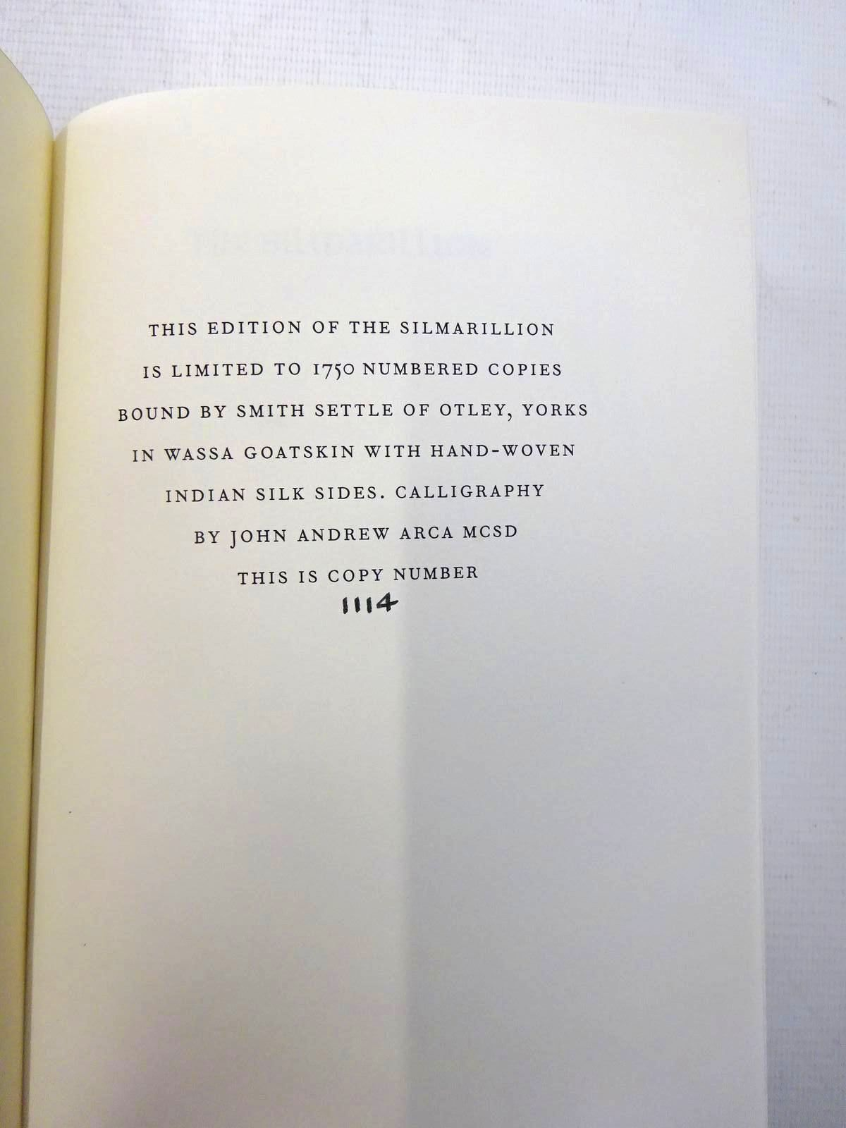 Photo of THE SILMARILLION written by Tolkien, J.R.R.<br />Tolkien, Christopher illustrated by Mosley, Francis published by Folio Society (STOCK CODE: 2127510)  for sale by Stella & Rose's Books