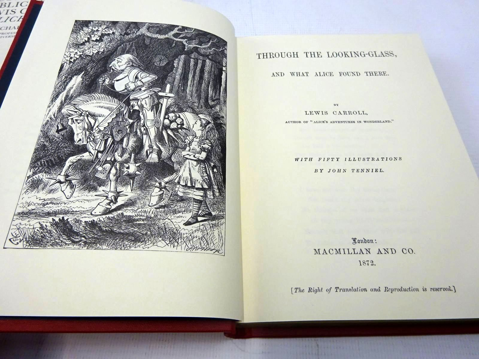 Photo of ALICE'S ADVENTURES IN WONDERLAND and THROUGH THE LOOKING-GLASS written by Carroll, Lewis<br />Hancher, Michael illustrated by Tenniel, John published by Macmillan Children's Books (STOCK CODE: 2127682)  for sale by Stella & Rose's Books