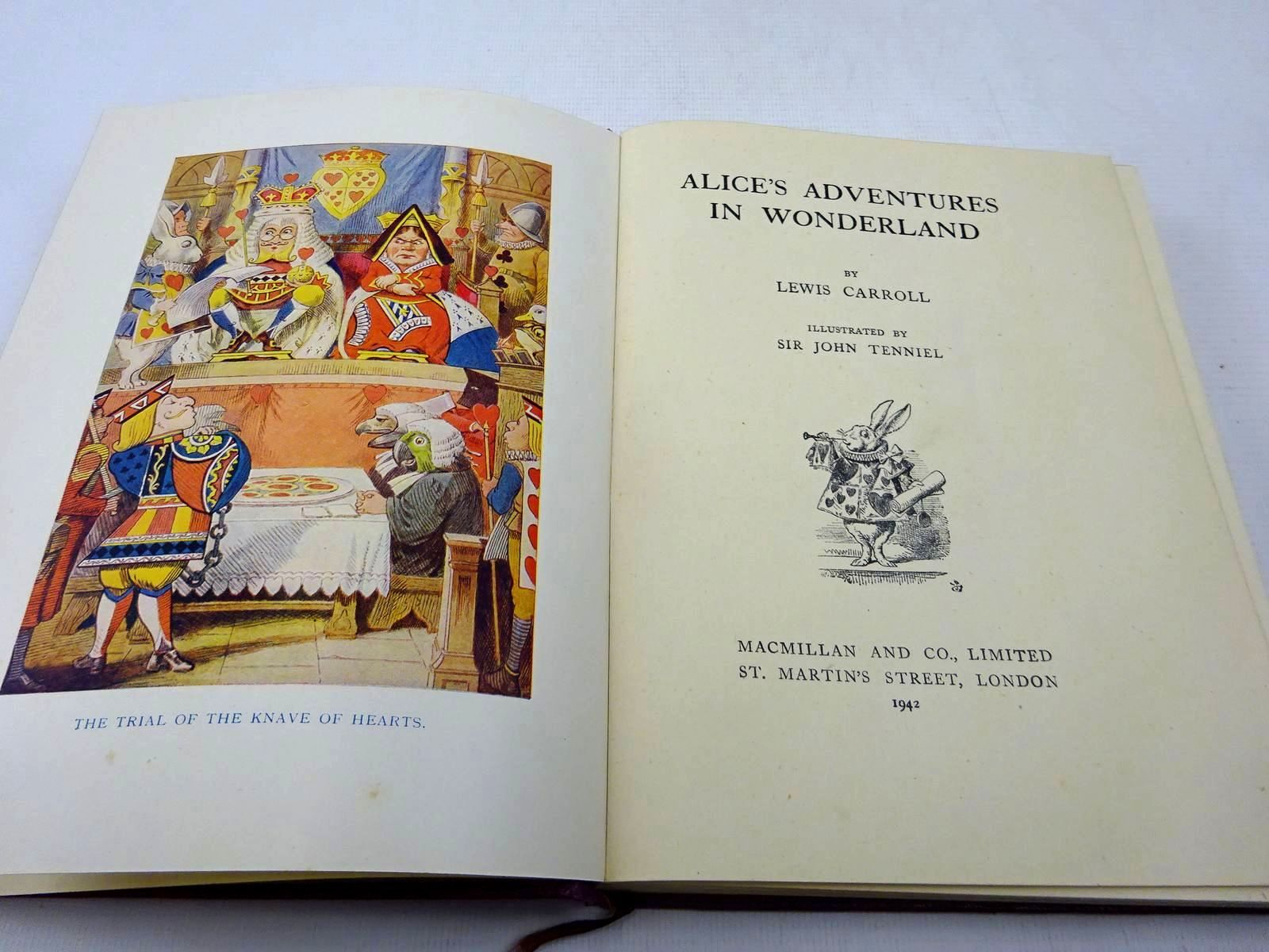 Photo of ALICE'S ADVENTURES IN WONDERLAND written by Carroll, Lewis illustrated by Tenniel, John published by Macmillan & Co. Ltd. (STOCK CODE: 2127683)  for sale by Stella & Rose's Books