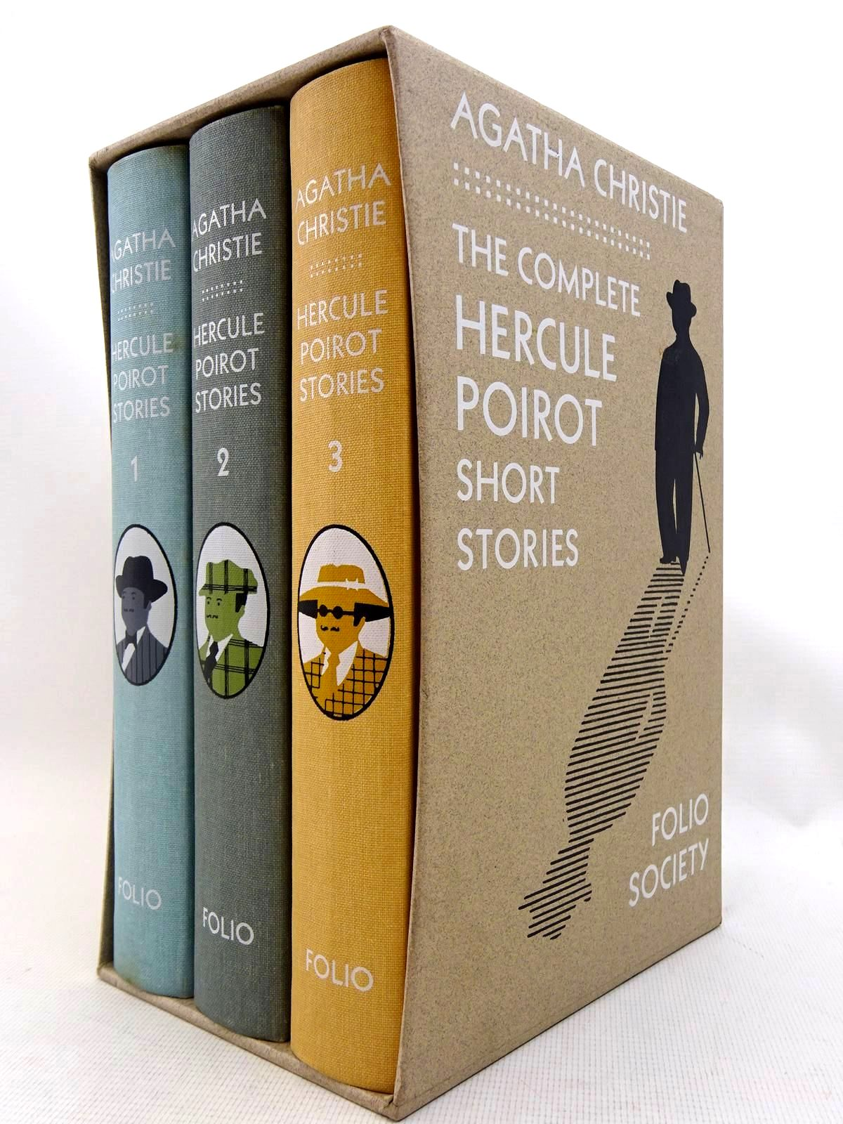 Photo of THE COMPLETE HERCULE POIROT SHORT STORIES written by Christie, Agatha illustrated by Brown, Christopher published by Folio Society (STOCK CODE: 2128029)  for sale by Stella & Rose's Books