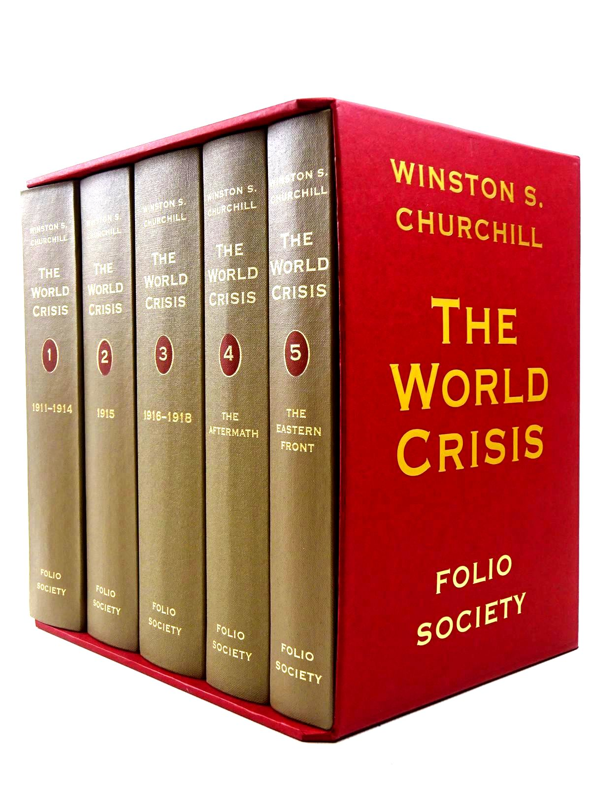 Photo of THE WORLD CRISIS (5 VOLUMES) written by Churchill, Winston S. published by Folio Society (STOCK CODE: 2128500)  for sale by Stella & Rose's Books