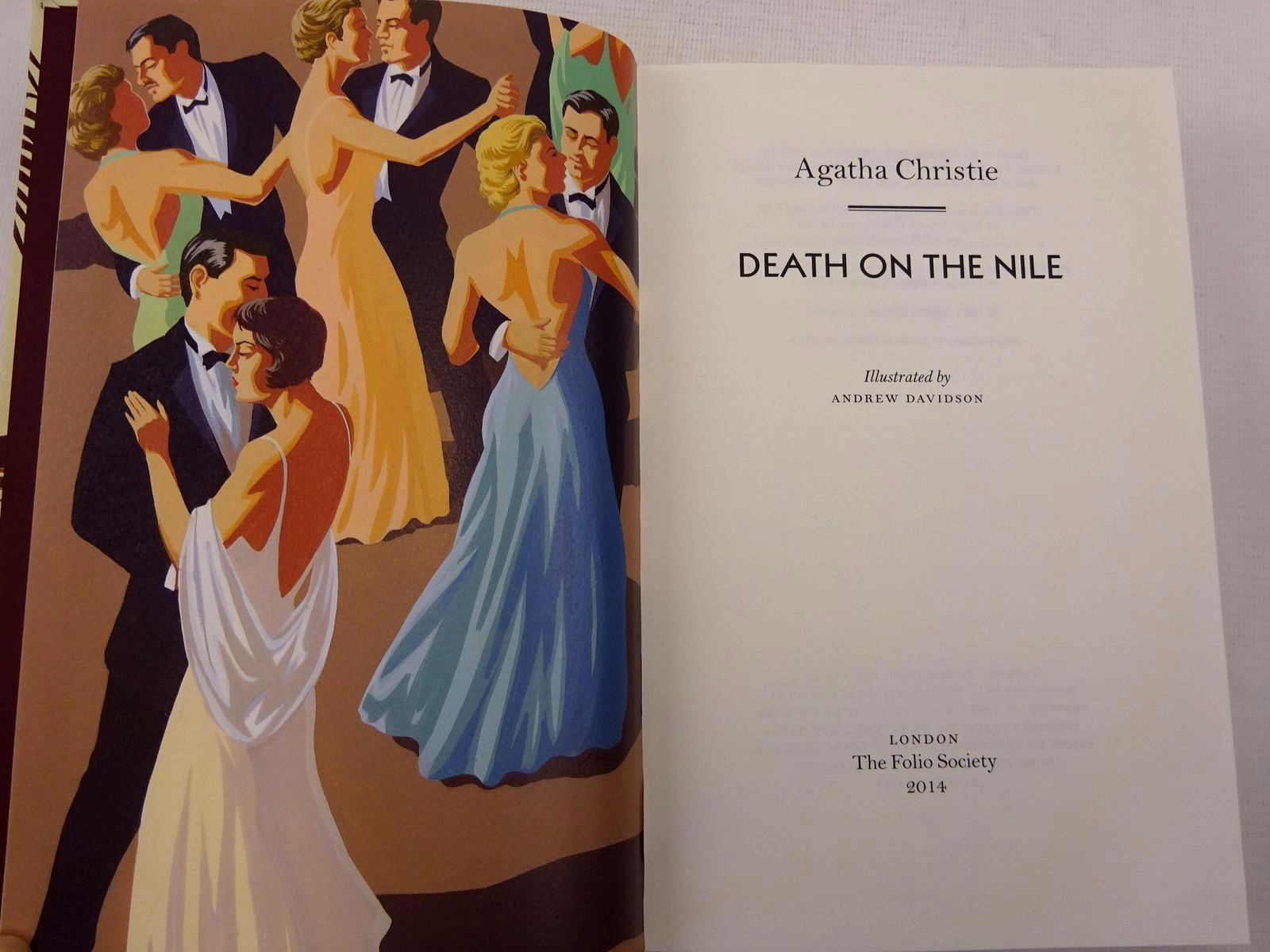 Photo of DEATH ON THE NILE written by Christie, Agatha illustrated by Davidson, Andrew published by Folio Society (STOCK CODE: 2129058)  for sale by Stella & Rose's Books