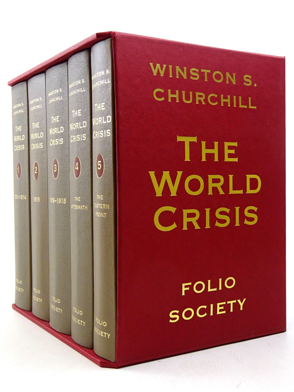 Photo of THE WORLD CRISIS (5 VOLUMES) written by Churchill, Winston S. published by Folio Society (STOCK CODE: 2129193)  for sale by Stella & Rose's Books