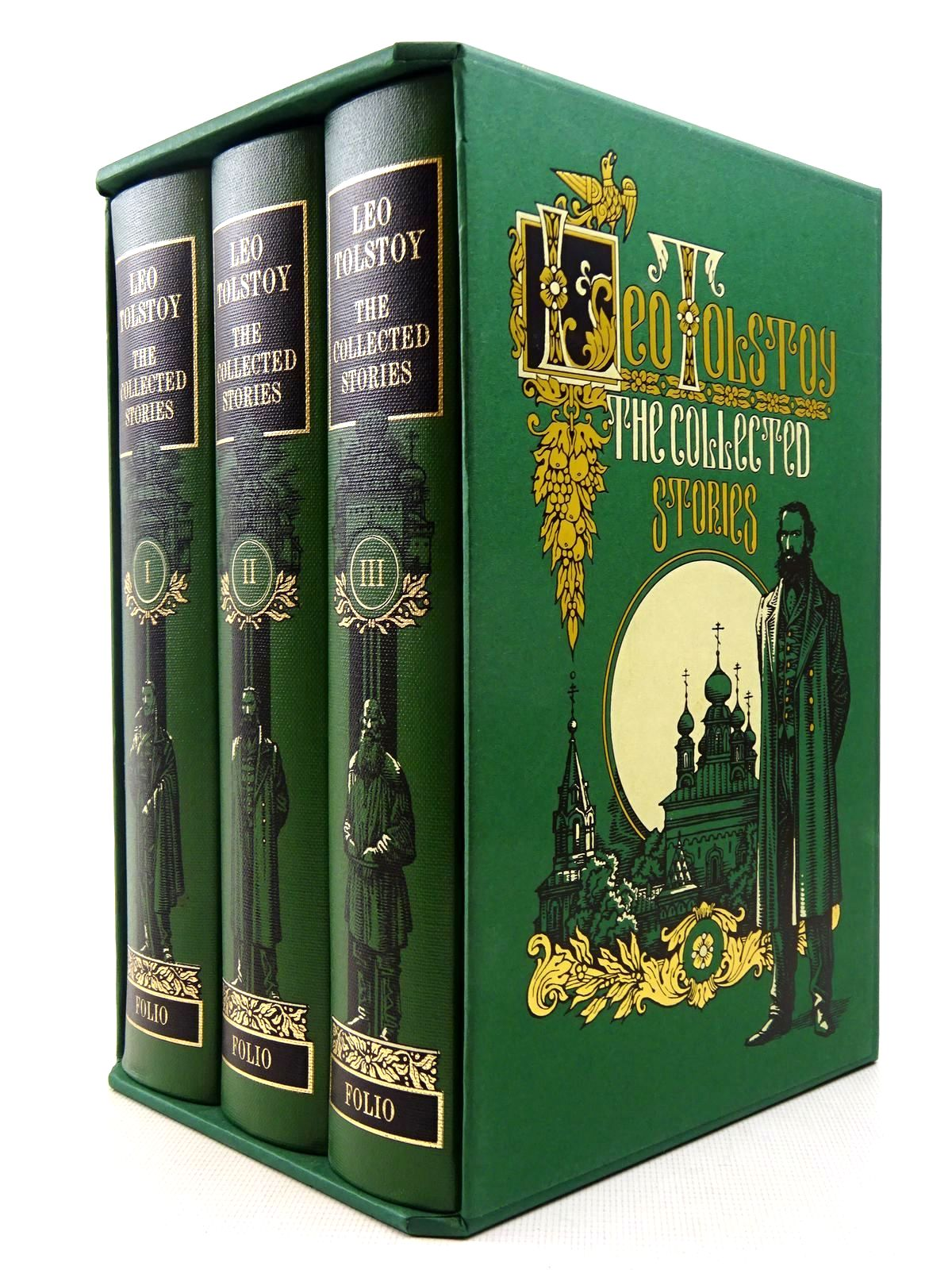 Photo of THE COLLECTED STORIES (3 VOLUMES) written by Tolstoy, Leo illustrated by Pisarev, Roman published by Folio Society (STOCK CODE: 2129265)  for sale by Stella & Rose's Books