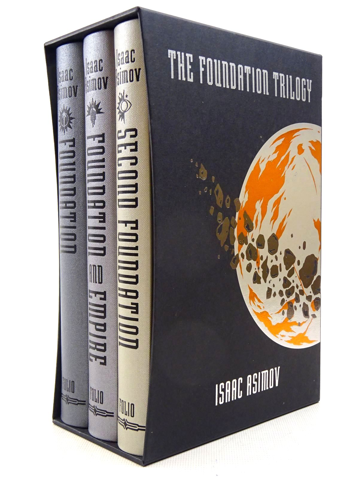 Photo of THE FOUNDATION TRILOGY (3 VOLUMES) written by Asimov, Isaac<br />Krugman, Paul illustrated by Wells, Alex published by Folio Society (STOCK CODE: 2129267)  for sale by Stella & Rose's Books
