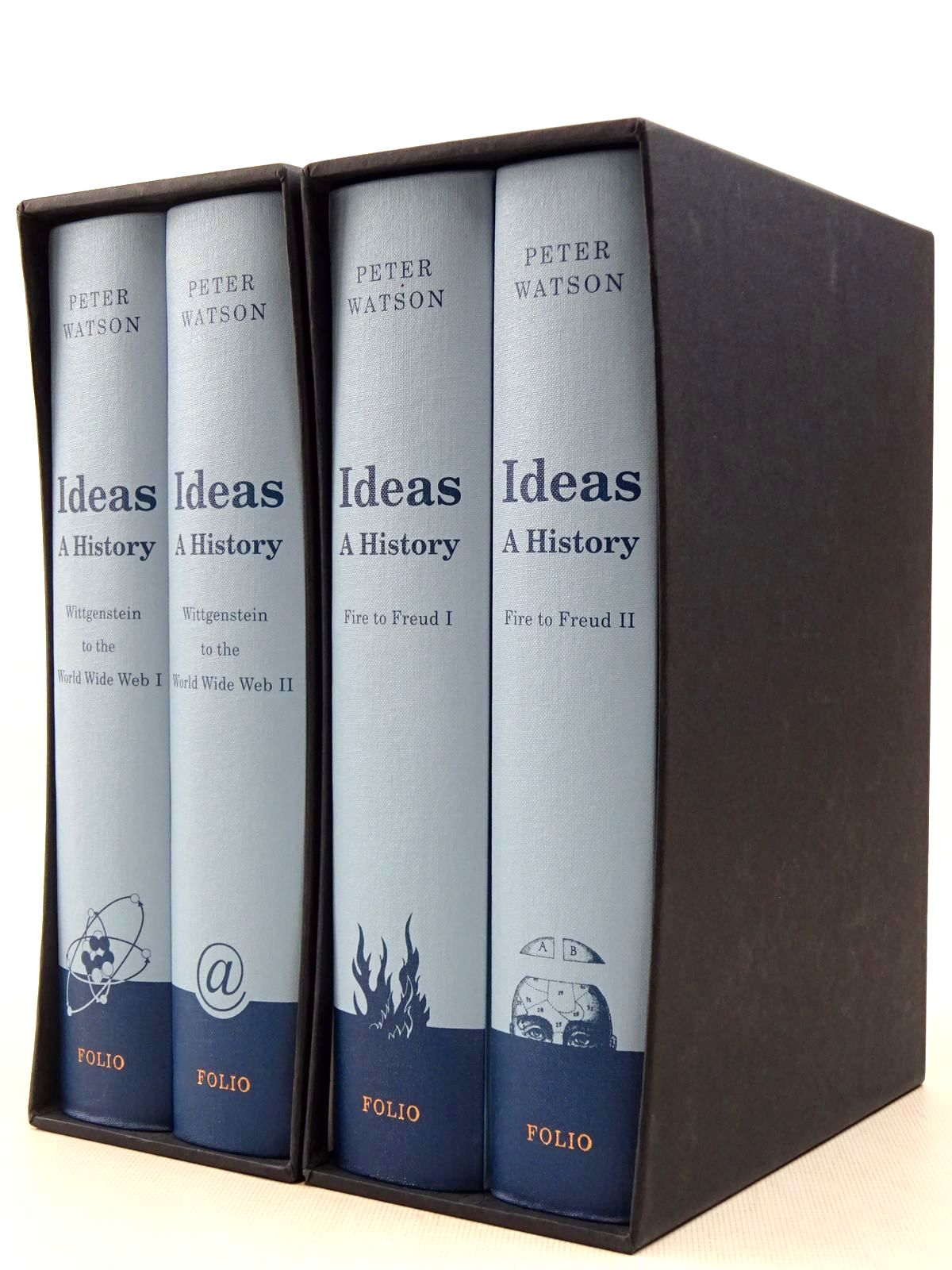 Photo of IDEAS: A HISTORY FROM FIRE TO FREUD VOLUMES I & II AND FROM WITTGENSTEIN TO THE WORLD WIDE WEB VOLUMES I & II written by Watson, Peter published by Folio Society (STOCK CODE: 2129271)  for sale by Stella & Rose's Books