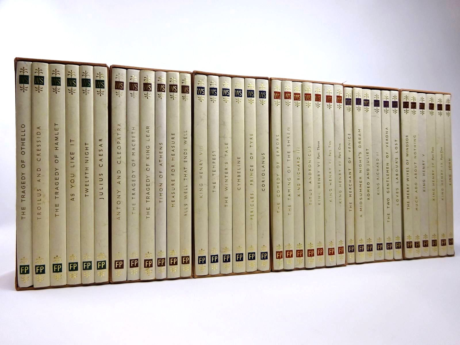 Photo of THE FOLIO PRESS SHAKESPEARE (37 VOLUMES) written by Shakespeare, William illustrated by Powell, Anthony<br />Neama, May<br />Hurry, Leslie<br />et al., published by Folio Society (STOCK CODE: 2129421)  for sale by Stella & Rose's Books