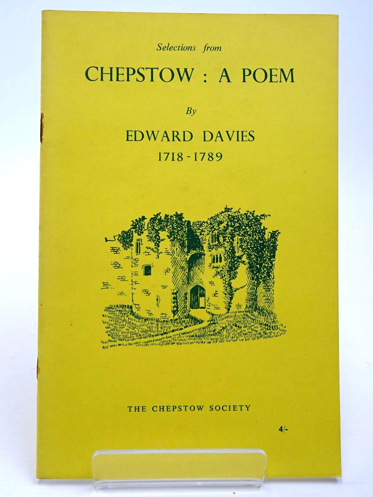 Photo of CHEPSTOW A POEM written by Davies, Edward<br />Waters, Ivor illustrated by Waters, Mercedes published by The Chepstow Society (STOCK CODE: 2129636)  for sale by Stella & Rose's Books