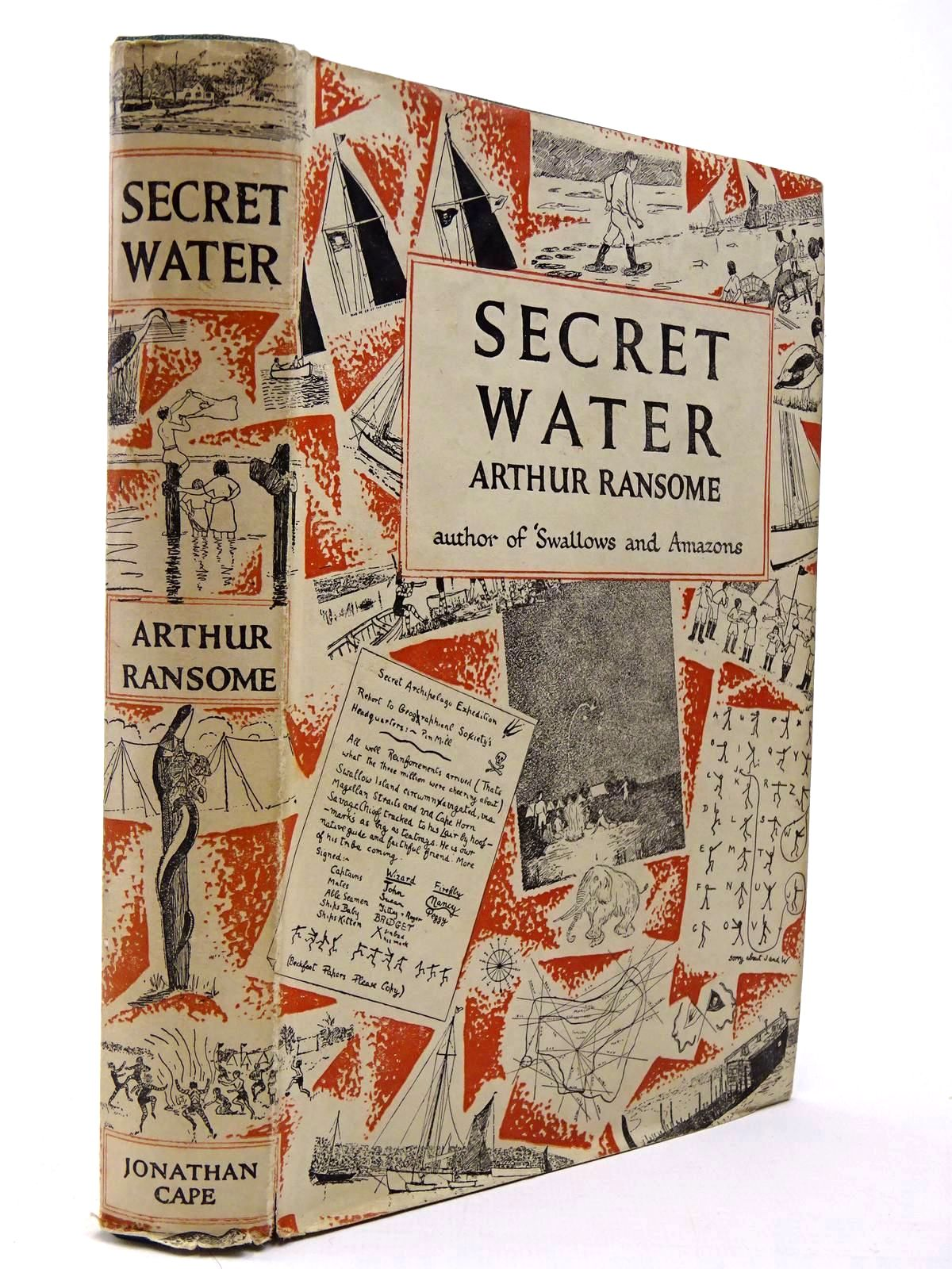 Photo of SECRET WATER written by Ransome, Arthur illustrated by Ransome, Arthur published by Jonathan Cape (STOCK CODE: 2129963)  for sale by Stella & Rose's Books