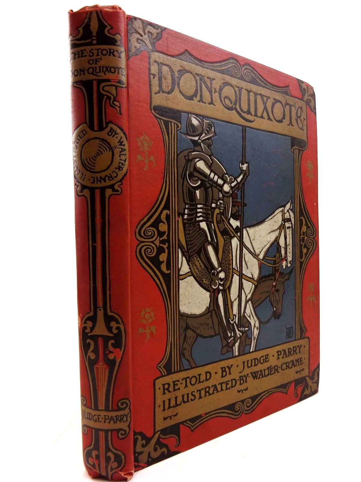 Photo of DON QUIXOTE OF THE MANCHA written by De Cervantes, Miguel<br />Parry, Edward Abbott illustrated by Crane, Walter published by Blackie & Son Ltd., Sherratt & Hughes (STOCK CODE: 2130743)  for sale by Stella & Rose's Books