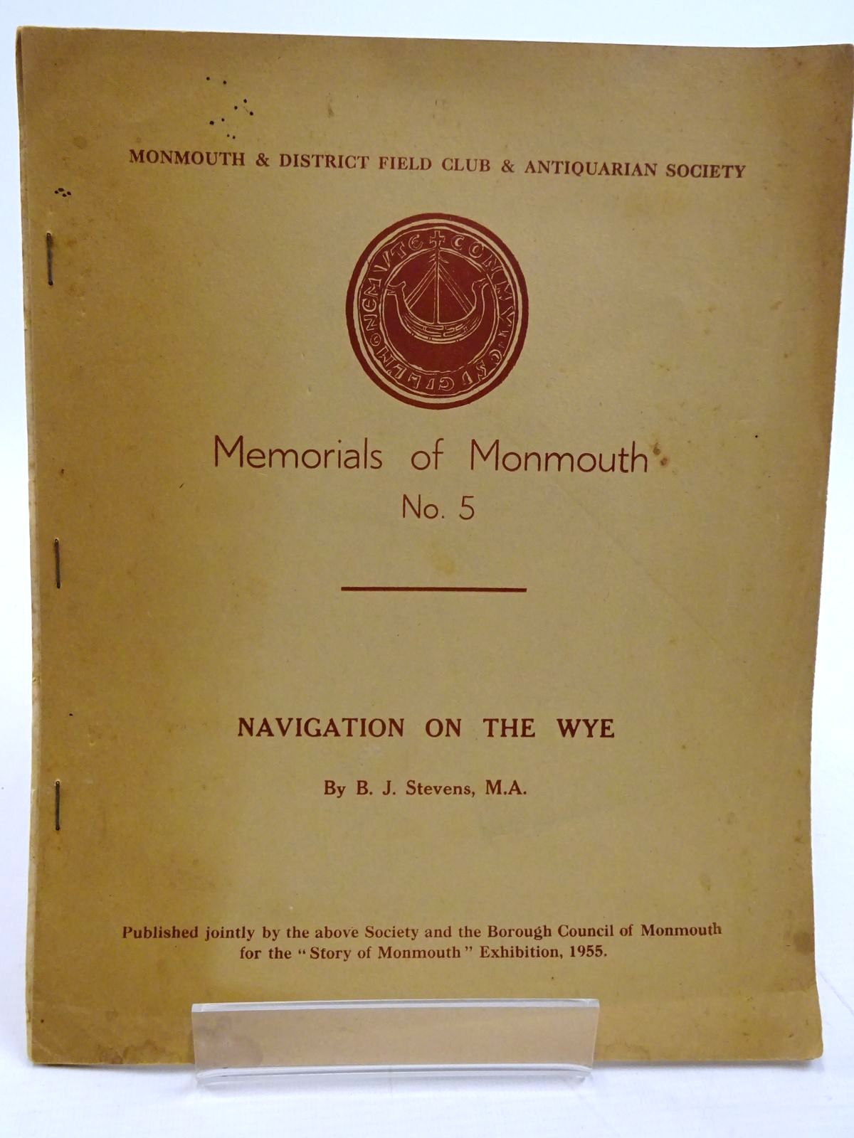 Photo of MEMORIALS OF MONMOUTH No. 5 NAVIGATION ON THE WYE