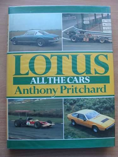 Photo of LOTUS ALL THE CARS written by Pritchard, Anthony published by Aston Publications (STOCK CODE: 485603)  for sale by Stella & Rose's Books