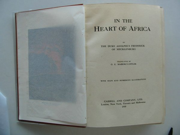 Photo of IN THE HEART OF AFRICA written by Frederick, Adolphus published by Cassell & Company Limited (STOCK CODE: 559232)  for sale by Stella & Rose's Books