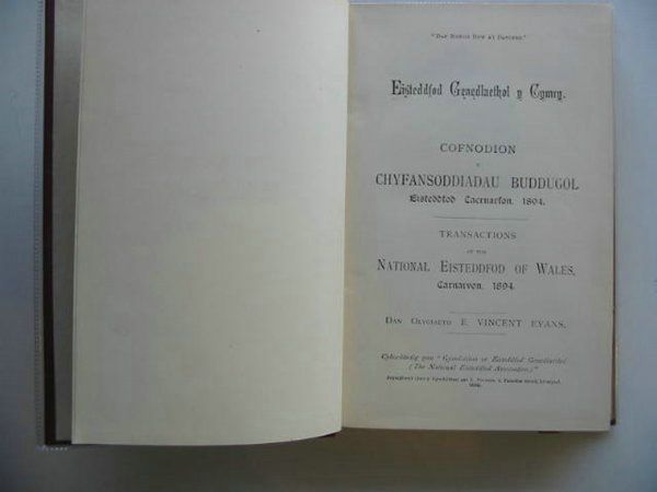 Photo of EISTEDDFOD TRANSACTIONS CARNARVON 1894 written by Evans, E. Vincent published by I. Foulkes (STOCK CODE: 559434)  for sale by Stella & Rose's Books