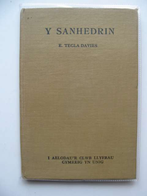 Photo of Y SANHEDRIN written by Davies, E. Tegla published by Llyfrau Cymreig (STOCK CODE: 559553)  for sale by Stella & Rose's Books