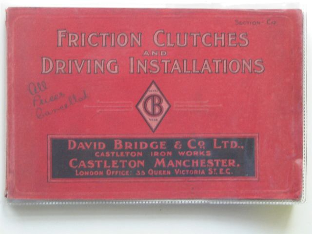 Photo of FRICTION CLUTCHES AND DRIVING INSTALLATIONS published by David Bridge & Co. Ltd. (STOCK CODE: 561411)  for sale by Stella & Rose's Books