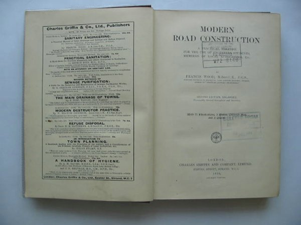 Photo of MODERN ROAD CONSTRUCTION written by Wood, Francis published by Charles Griffin & Co. Ltd. (STOCK CODE: 561440)  for sale by Stella & Rose's Books