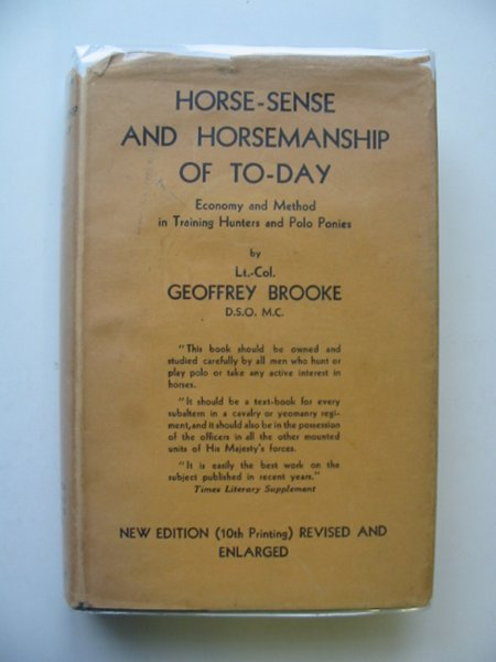 Photo of HORSE-SENSE AND HORSEMANSHIP OF TO-DAY written by Brooke, Geoffrey published by Constable and Company Ltd. (STOCK CODE: 564475)  for sale by Stella & Rose's Books