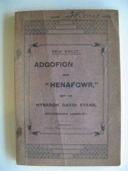 Photo of ADGOGION GAN HENAFGWR written by Evans, David published by Cwmni Y. Wasg Eglwysig Gymreig (STOCK CODE: 566031)  for sale by Stella & Rose's Books