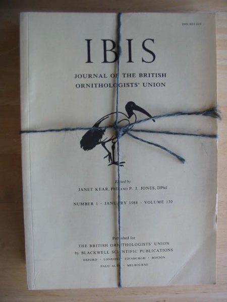 Photo of THE IBIS VOLUME 130 published by British Ornithologists' union (STOCK CODE: 575693)  for sale by Stella & Rose's Books