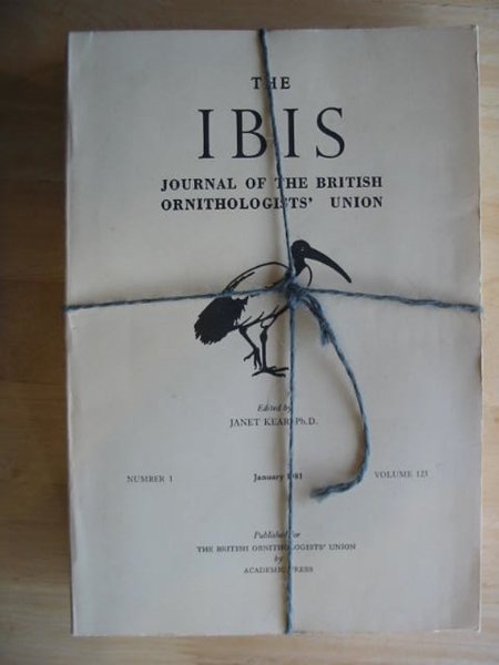 Photo of THE IBIS VOLUME 123 published by British Ornithologists' union (STOCK CODE: 575694)  for sale by Stella & Rose's Books