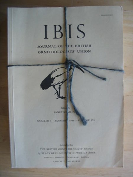 Photo of THE IBIS VOLUME 128 published by British Ornithologists' union (STOCK CODE: 575696)  for sale by Stella & Rose's Books