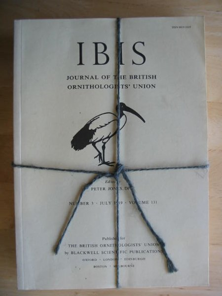 Photo of THE IBIS VOLUME 131 published by British Ornithologists' union (STOCK CODE: 575697)  for sale by Stella & Rose's Books