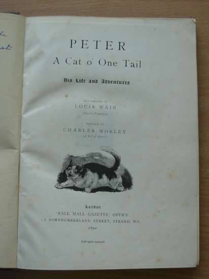 Photo of PETER A CAT O' ONE TAIL AND TEUFEL THE TERRIER written by Morley, Charles illustrated by Wain, Louis<br />Carrington, J. Yates published by Pall Mall Gazette (STOCK CODE: 577477)  for sale by Stella & Rose's Books