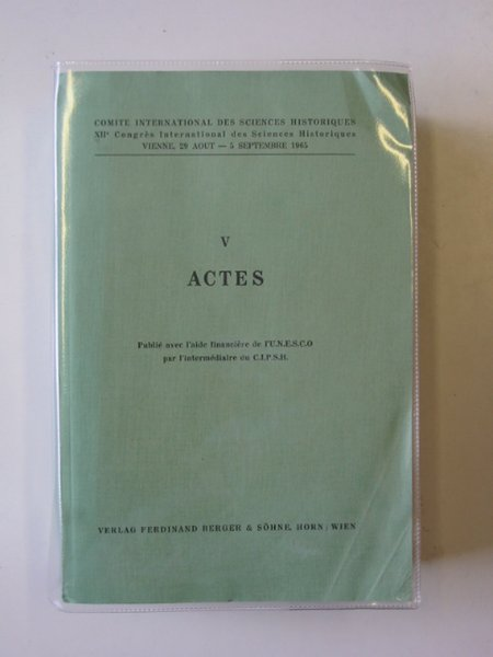Photo of ACTES published by Ferdinand Berger & Sohne (STOCK CODE: 582677)  for sale by Stella & Rose's Books