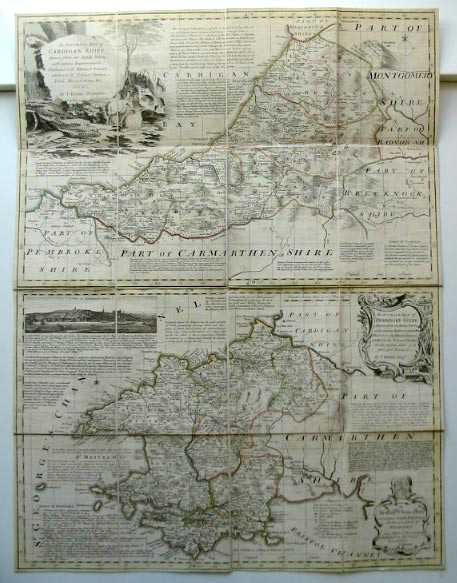 Photo of AN ACCURATE MAP OF CARDIGANSHIRE AND AN ACCURATE MAP OF PEMBROKESHIRE written by Kitchin, Thomas published by Carington Bowles (STOCK CODE: 586163)  for sale by Stella & Rose's Books