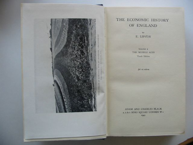 Photo of THE ECONOMIC HISTORY OF ENGLAND VOL I written by Lipson, E. published by Adam & Charles Black (STOCK CODE: 587742)  for sale by Stella & Rose's Books