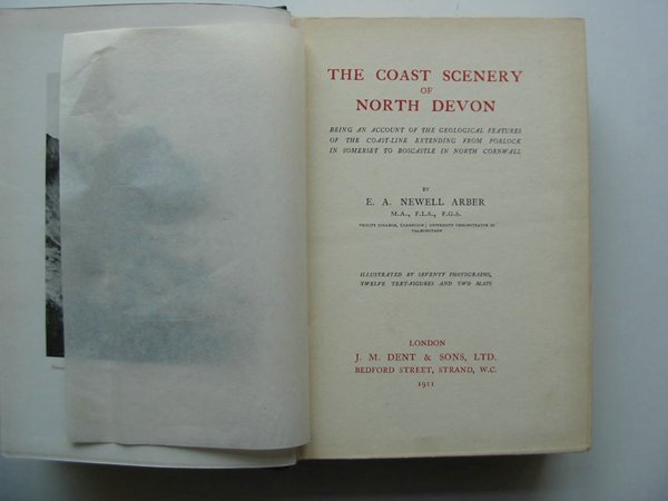 Photo of THE COAST SCENERY OF NORTH DEVON written by Arber, E.A. Newell published by J.M. Dent (STOCK CODE: 597902)  for sale by Stella & Rose's Books