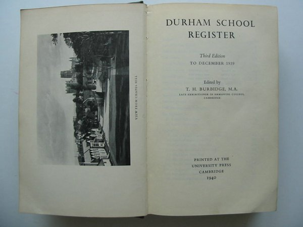 Photo of DURHAM SCHOOL REGISTER TO DECEMBER 1939 written by Burbidge, T.H. published by Cambridge University Press (STOCK CODE: 627670)  for sale by Stella & Rose's Books