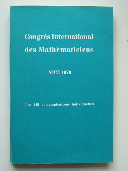 Photo of CONGRES INTERNATIONAL DES MATHEMATICIENS published by Gauthier-Villars (STOCK CODE: 627851)  for sale by Stella & Rose's Books