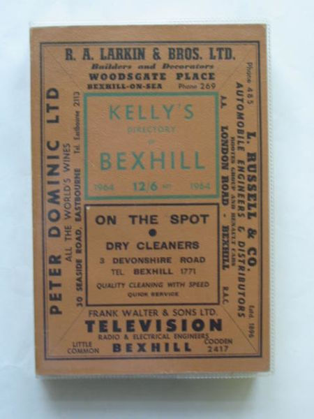 Photo of KELLY'S DIRECTORY OF BEXHILL published by Kelly's Directories Ltd. (STOCK CODE: 628264)  for sale by Stella & Rose's Books