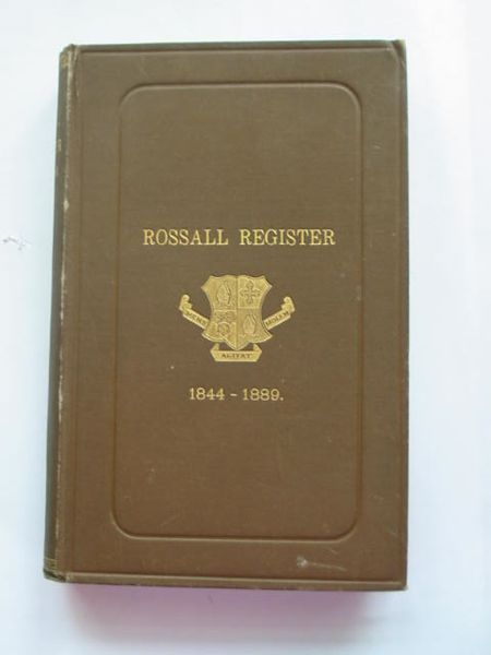 Photo of THE ROSSALL REGISTER 1844-1889 written by King, W. published by Richard Clay & Sons Ltd. (STOCK CODE: 628436)  for sale by Stella & Rose's Books