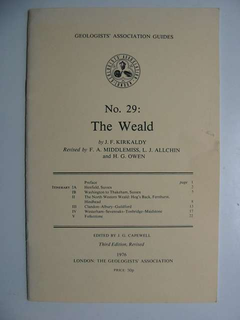 Photo of THE WEALD written by Kirkaldy, J.F.<br />et al, published by The Geologists' association (STOCK CODE: 629054)  for sale by Stella & Rose's Books