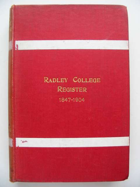 Photo of ST. PETER'S COLLEGE RADLEY REGISTER 1847-1904 published by Alden & Company Limited (STOCK CODE: 629985)  for sale by Stella & Rose's Books