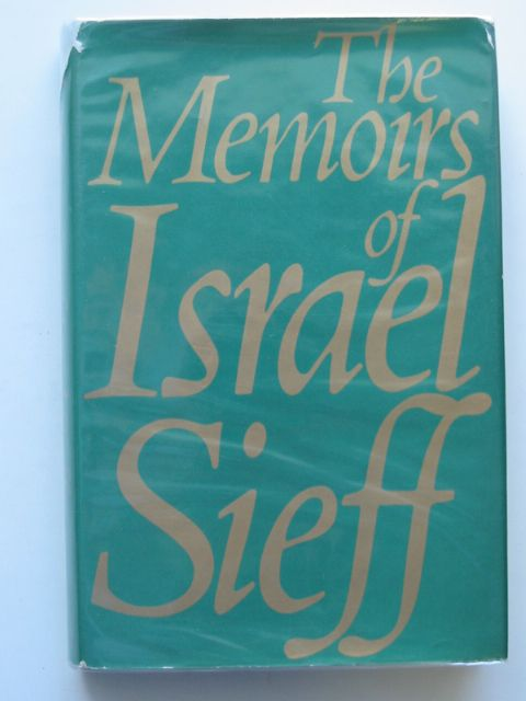 Photo of MEMOIRS written by Sieff, Israel published by Weidenfeld and Nicolson (STOCK CODE: 653570)  for sale by Stella & Rose's Books